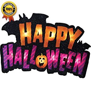 Luckybuy168 happy halloween Lighted Shimmer Decoration Indoor DECOR house WALL windows trees