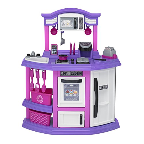 American Plastic Toys Baker's Kitchen Playset American Made Plastic Toys