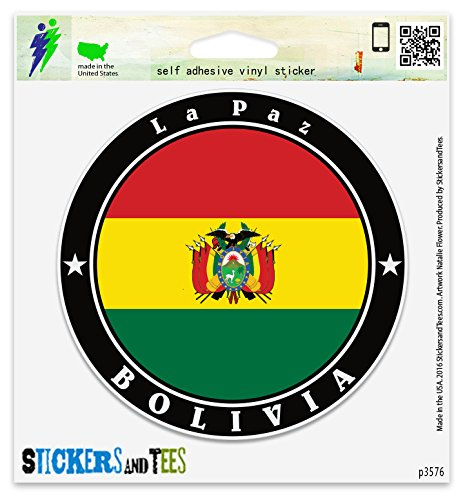 Bolivia la Paz Vinyl Car Bumper Window Sticker 4