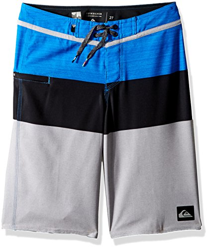 Quiksilver Big Boys' Everyday Blocked Vee Youth 19, Electric Blue, 24/8