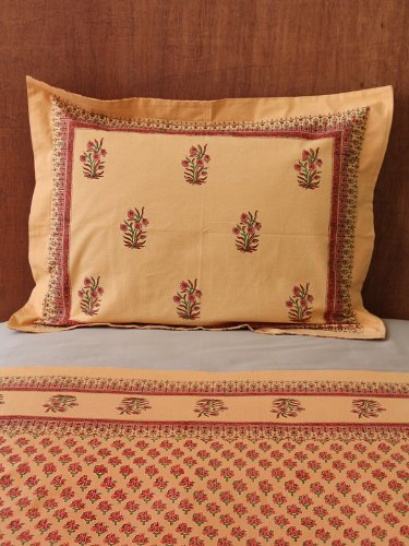 Indian Summer (CP) ~ Orange Paisley India Sari Pillow Sham 27
