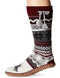 MUK LUKS womens standard Muk Luks Women's Pattern Slipper Socks