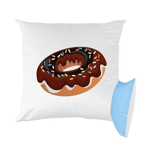 Mygoodprice cojín Bicolor Estampado 40 x 40 cm Donut: Amazon ...