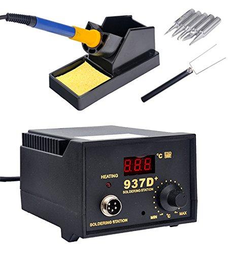 937d soldering station jp heater iron welding solder smd tool 5 tips stand esd us stock. Black Bedroom Furniture Sets. Home Design Ideas