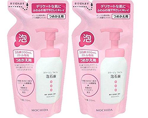 有限判決広がりコラージュフルフル 泡石鹸 ピンク つめかえ用 210mL (医薬部外品)×2