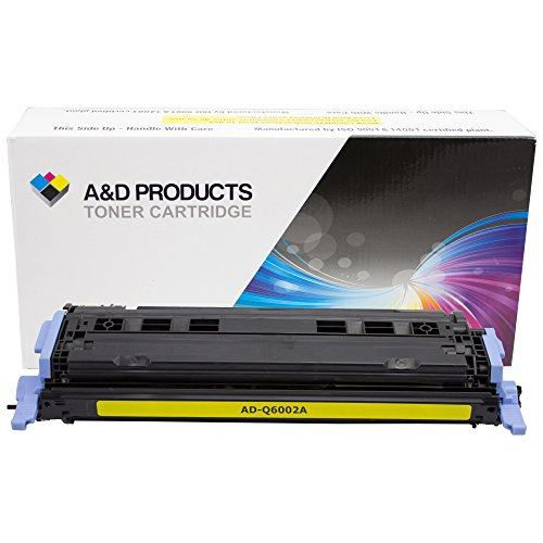 A&D Products Compatible Replacement for HP Q6002A Toner Cartridge HP 124A Yellow (2,000 Page Yield)