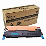 V4INK 1 Pack New Replacement for Samsung CLT-C409S Cyan Toner Cartridge for use with Samsung CLP-310 CLP-310N CLP-315 CLP-315W CLX-3175 CLX-3175FN CLX-3175FW CLX-3175N Printers