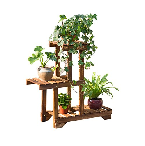 European Multi - Storey Multi - Functional Wooden Flower Stand Living Room Balcony Plant Flower Display Stand Indoor Plant Rack by Small garden