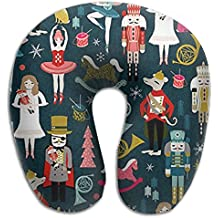 Cananhjs Nutcracker Holiday Xmas Chirstmas 3D Full Print Super Soft And Comfortable For Rest U-shaped Memory Neck Pillow Upgrades