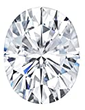 Forever One Oval Moissanite 8x6mm by Charles & Colvard, D-E-F color range