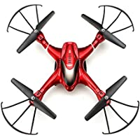 RC Drone SJ R/C X300-2 4CH 6 Axis 2.4G - RC Quadcopter One Key To Auto-Return Headless Mode 360°Rolling RC Quadcopter Remote (Red)