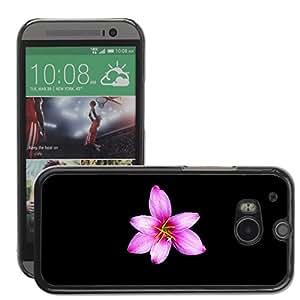 Super Stellar Slim PC Hard Case Cover Skin Armor Shell Protection // M00052075 flower black aero // HTC ONE M8
