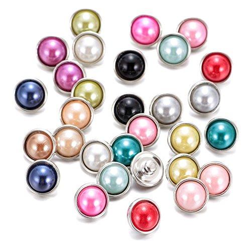 Soleebee click-button aluminium résine 12mm pression boutons femme Un groupe de 30 - La couleur pure 1