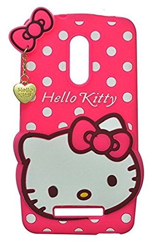 super popular 46a77 2a37b LENOVO K6 NOTE CASE AE (TM) Cute cartoon Hello Kitty Silicone With Pendant  Back Case Cover For LENOVO K6 NOTE (PINK)