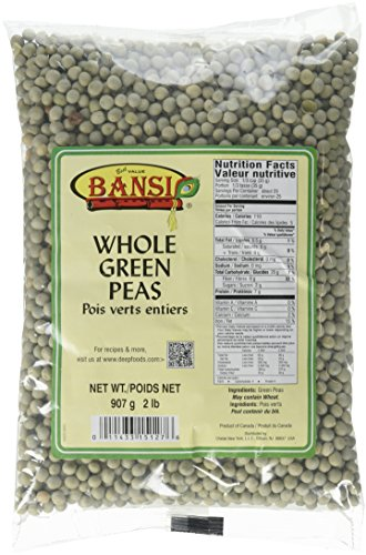 Bansi, Whole Green Peas, 907 Grams(gm) by Bansi