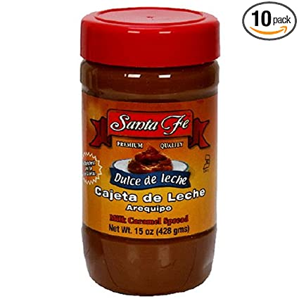 Amazon.com : Santa Fe Dulce de Leche, 15-Ounce Plastic Jars (Pack of 10) : Sweetened Condensed Milk : Grocery & Gourmet Food
