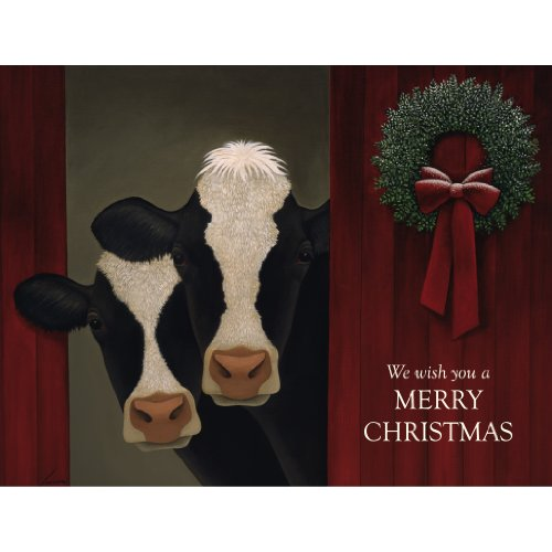 Lang 5.375 x 6.875 Inches Perfect Holiday Cows Boxed Christmas Card, 18 Cards with 19 Envelopes (1004734)