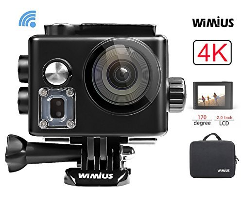 WiMiUS Action Camera Sports Camera 4K WiFi Ultra HD Waterproof Camera 40M with 2 Rechargeable Batteries (Black) [並行輸入品]   B07CNKP7ZL