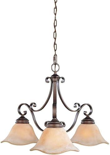 Murray Feiss F1837 3CB Tuscan Villa, Kitchen Chandelier, 3 Light, 300 Watts, Corinthian, Grecian Bronze