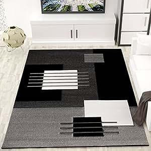 VIMODA cascadapl6081PHC moderna alfombra,, naturfreundlich y cuidado fácil, Gris/Blanco/Negro, multicolor, 160 x 230 cm