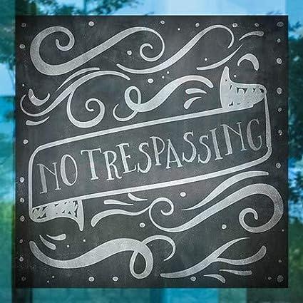 24x24 No Trespassing Chalk Banner Window Cling 5-Pack CGSignLab
