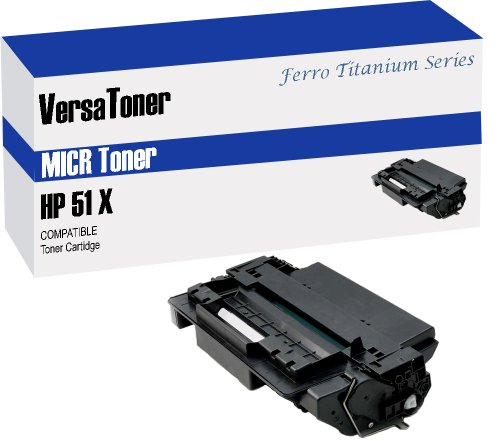 Q7551x Micr Toner - VersaToner - 51X Q7551X MICR Toner Cartridge for Check Printing - Compatible with LaserJet P3005, M3027, M3035