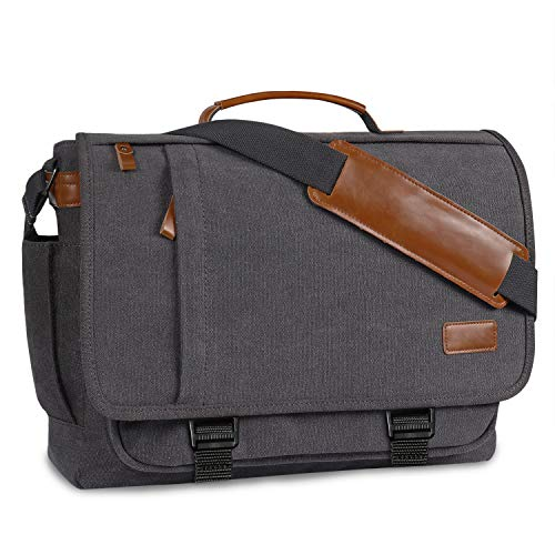 Messenger Bag Mens Satchel Bag,BERTASCHE Canvas Laptop Bag 17-17.3 Inch for Men
