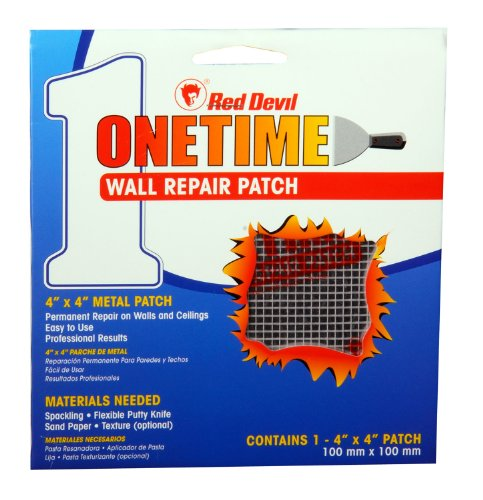 Red Devil 1214 4-Inch Onetime Wall Repair Patch (Wall Spackle Kit Repair)
