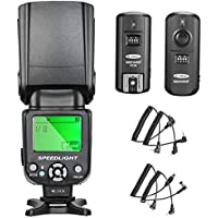 Neewer NW-561 Flash Speedlite Kit for Canon Nikon and Other DSLR Cameras: NW-561 Flash, 2.4Ghz Wireless Trigger(1 Transmitter and 1 Receiver),Diffuser