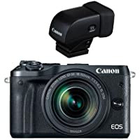 Canon EOS M6 Mirrorless Digital Camera Black Kit with EF-M 18-150mm f/3.5-6.3 IS STM Lens - With Canon EVF-DC1 Electronic Viewfinder