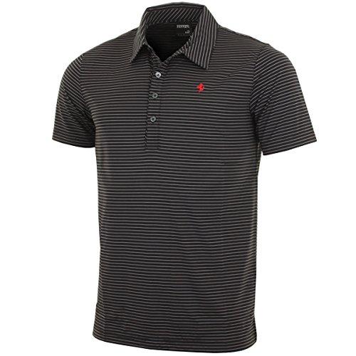 Puma Golf Men's Ferrari Stripe Performance Polo Shirt - S - Black/White