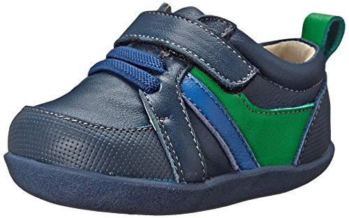 Infants Leather Trainers - See Kai Run Olaf Leather trainer (Infant/Toddler), Navy, 3 M US Infant