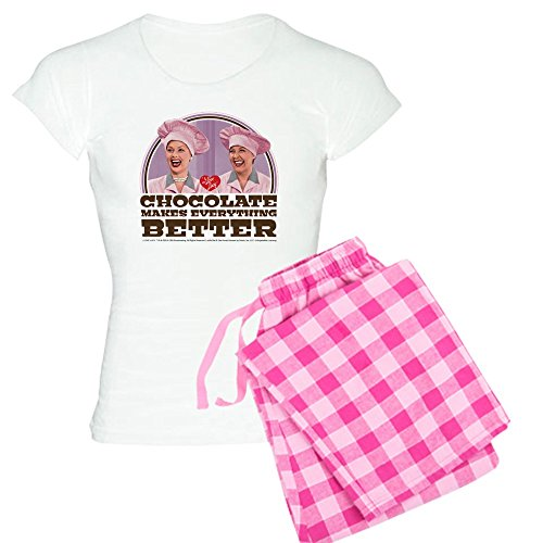- CafePress - I Love Lucy: Chocolate Make - Womens Novelty Cotton Pajama Set, Comfortable PJ Sleepwear