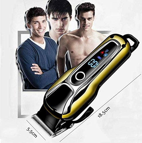 Household Hair Clipper Professional Hair Clipper Cordless Hair Clipper Kit Carbon Steel Adjustable Knife Head LCD Panel Push Button Switch Suitable for Men and Children  EeGbW
