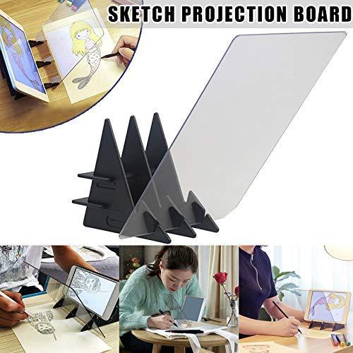 Konglyle Croquis Assistant Traçage Planche de Dessin, Optique Dessin Projecteur Peinture Réflexion Traçage Ligne Table