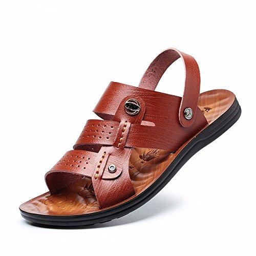Prova Couro Cn Sandálias Os Verão Marrom Uk 8 Tendência De 44 3 1 Reais De 5 À 9 Utilização Eu Homens Dupla Água 2 Sapato Praia Novos 42 De Nós 787fnwqA