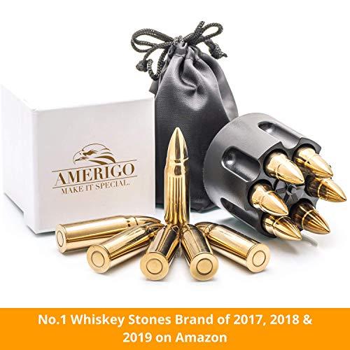 XL Or Ensemble de Cadeaux Pierre a Whisky Exclusives en Acier Inoxydable - Haute Technologie de Refroidissement – Cadeau… 2