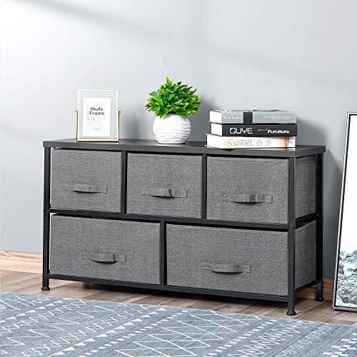 5-Drawers Bedside Dresser Organi...