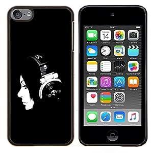 "Be-Star Único Patrón Plástico Duro Fundas Cover Cubre Hard Case Cover Para iPod Touch 6 ( Beautiful Girl Dj Mujer B & W"" )"