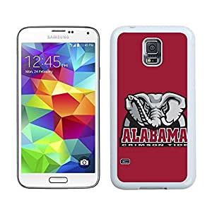 New Unique DIY Antiskid Skin Case For Samsung S5 Alabama Crimson Tide Samsung Galaxy S5 White Phone Case 011