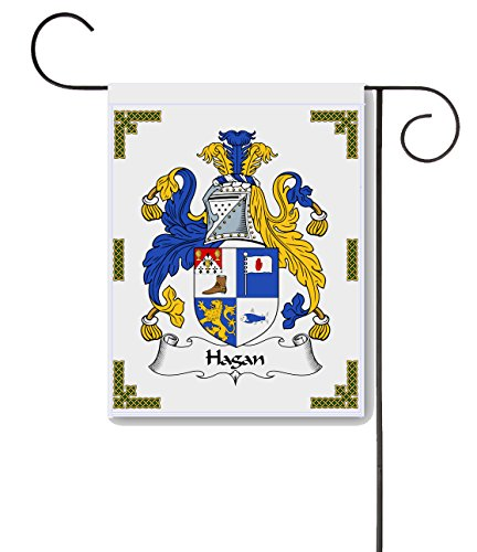 Hagan Coat of Arms / Hagan Family Crest 11 X 15 Garden Flag – Made in the U.S.A.