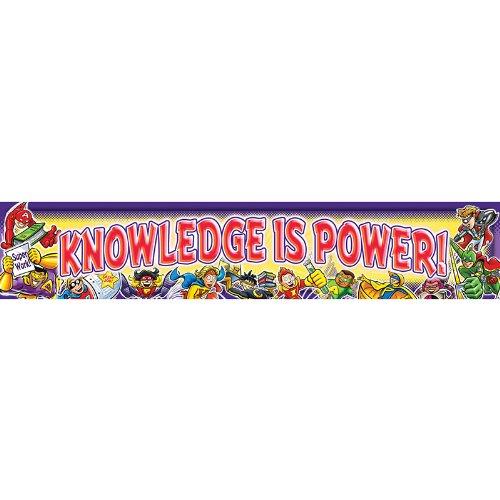 North Star Teacher Resource NST1213BN 3 Each Knowledge Is Power Banner