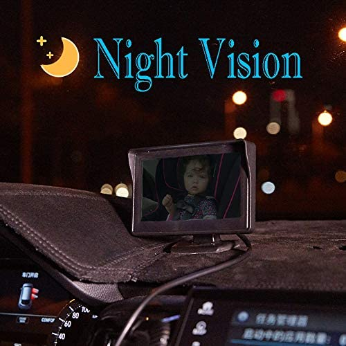 51zHvzd7nUL. AC - Baby-Mirror For-Car Back-Seat - Baby Car Camera With Night Vision, View Infant In Rear Facing Seat With 4.3-Inch HD Display, Observe The Baby's Every Move At Any Time While Driving