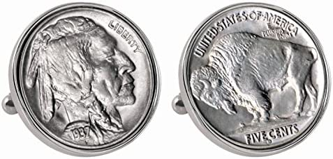 American Coin Treasures Buffalo Nickel Bezel Cuff Links