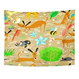 Emvency Tapestry Wall Hanging Sausage Cute with Dogs Animal Ball Bee Bird Bone Butterfly Canine Polyester Fabric Home Decor for Living Room Bedroom Dorm 60x80 Inches
