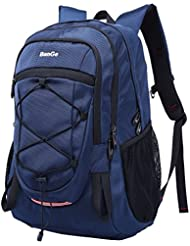 Daypack Backpack Waterproof Outdoor Sport Hiking Camping Blue Backpack for Men Lightweight with Reflective Strips...
