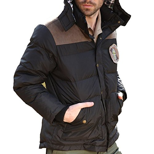 Seibertron Men's Winter Outdoor Leisure Hooded Down Jacket