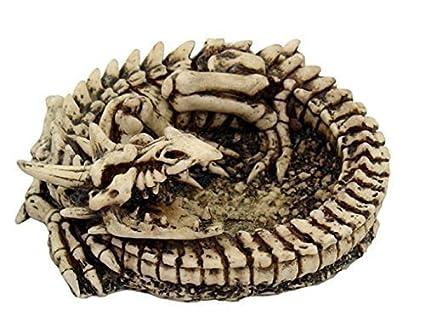 Cenicero con diseño de esqueleto-dragón, rollo de vuelta: Amazon.es ...