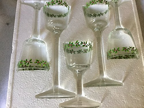 Holly Votives - Set of 5 Christmas Holly Berry Votive Candle Holders