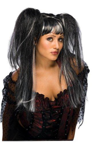 Rubie's Lilith Fairy Wig, Black/White, One